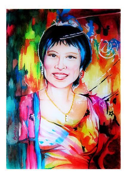 Portraits Painting - Elsa by Bobby Barredo