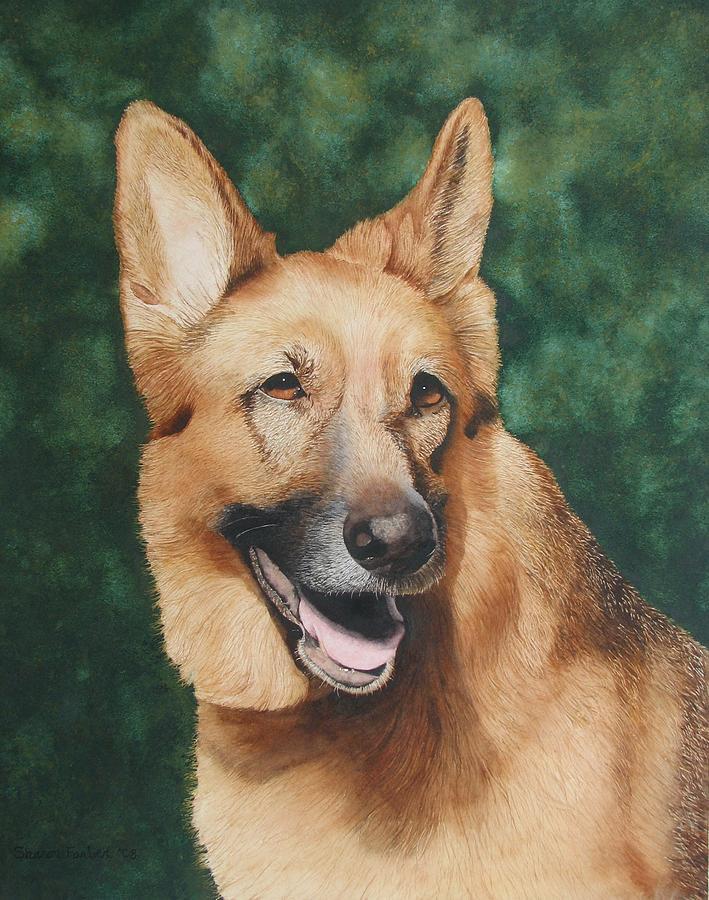 German Shepherd Painting - Elsa Marie by Sharon Farber