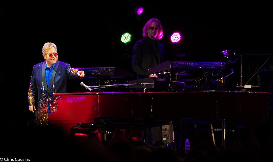 Elton Photograph - Elton - Enjoying The Show by Chris Cousins