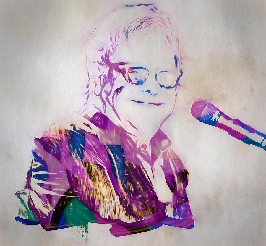 Elton John Painting - Elton John by Dan Sproul