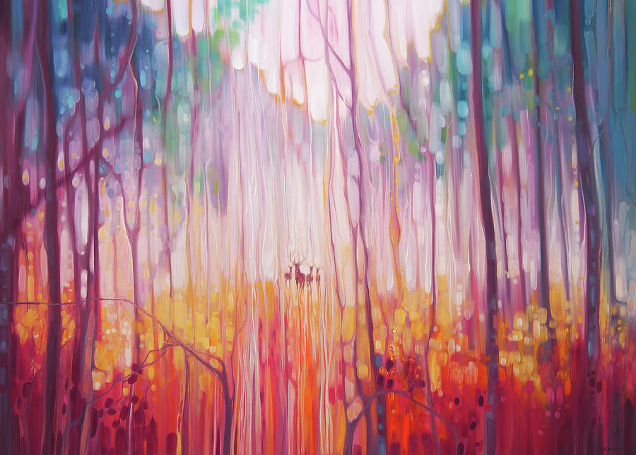 English Woodland Painting - Elusive by Gill Bustamante