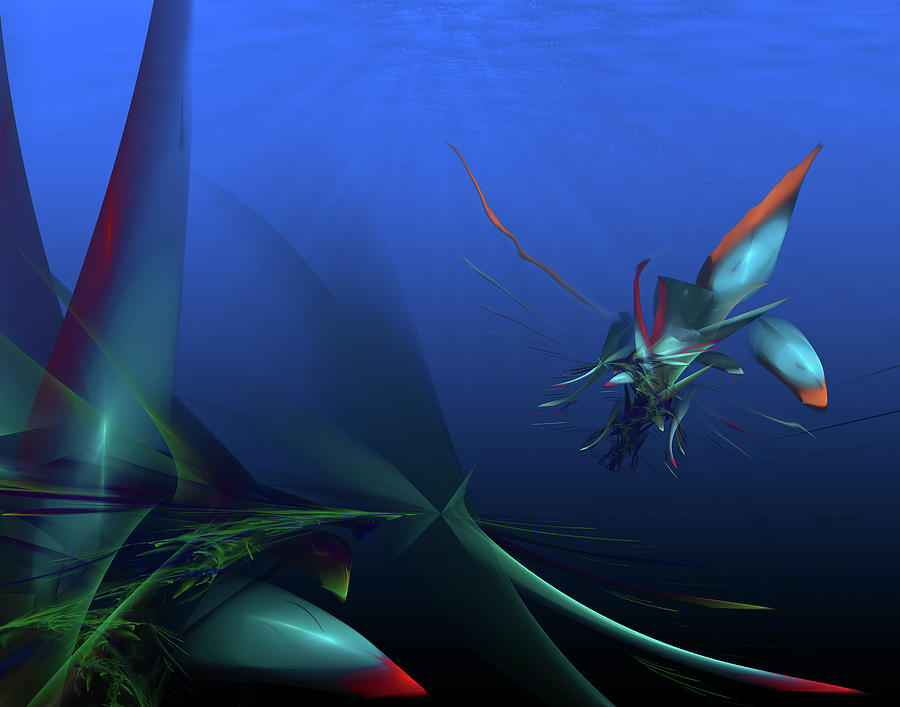 Paint Digital Art - Elusive North Western Spiny Fish by Darrell Fifield