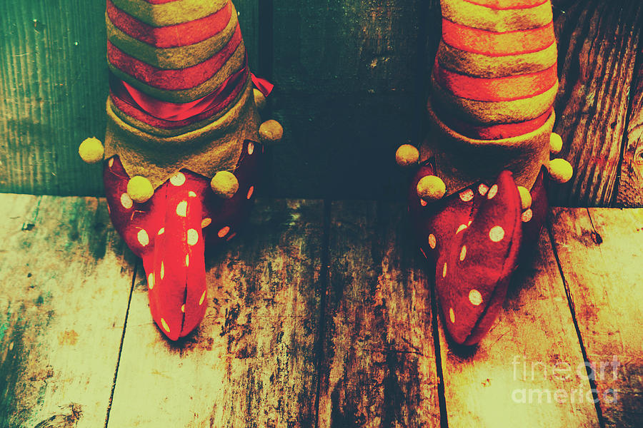 Christmas Photograph - Elves And Feet by Jorgo Photography - Wall Art Gallery