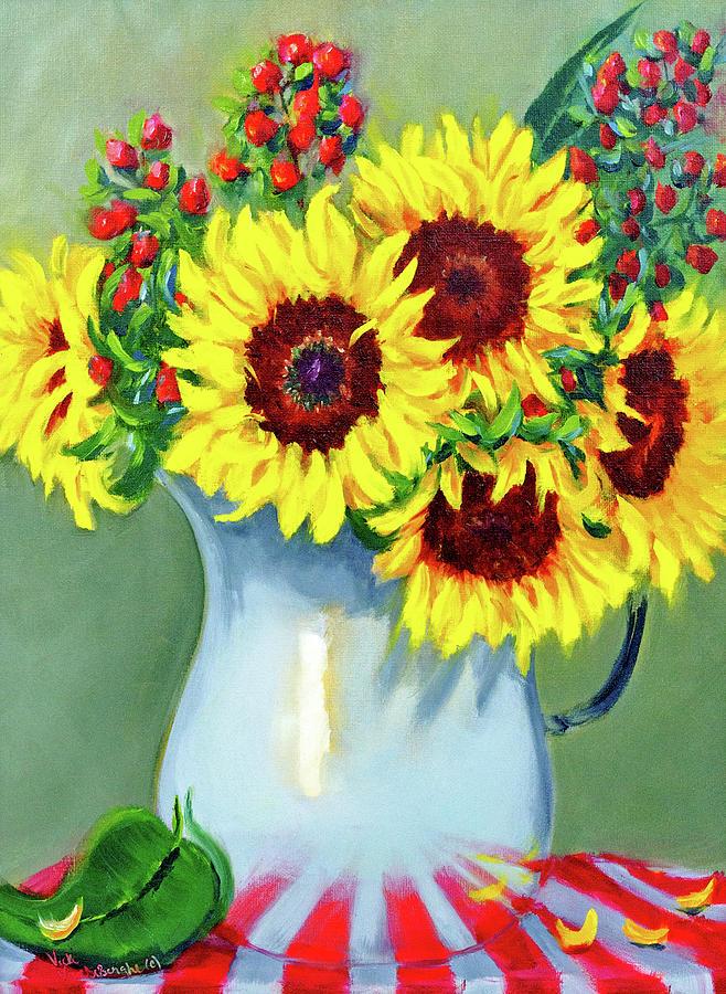 Elvie's Sunflowers by Vicki VanDeBerghe