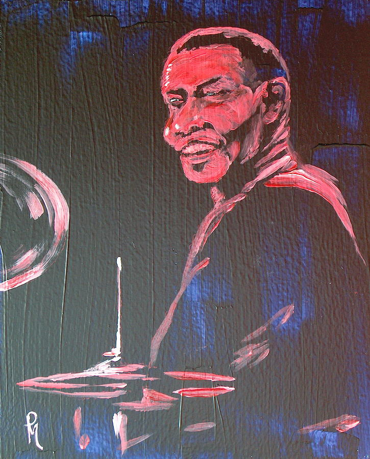Jazz Painting - Elvin II by Pete Maier