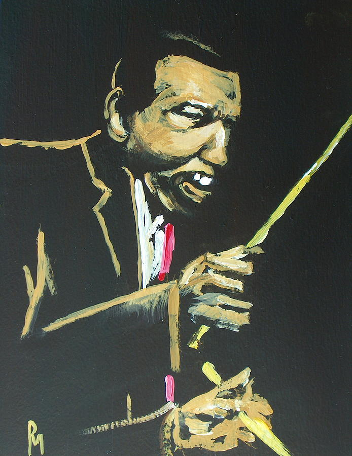 Drums Painting - Elvin V by Pete Maier