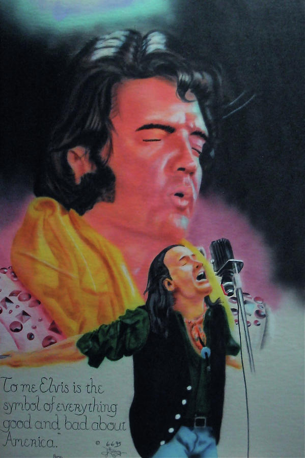 Elvis Painting - Elvis And Jon by Thomas J Herring