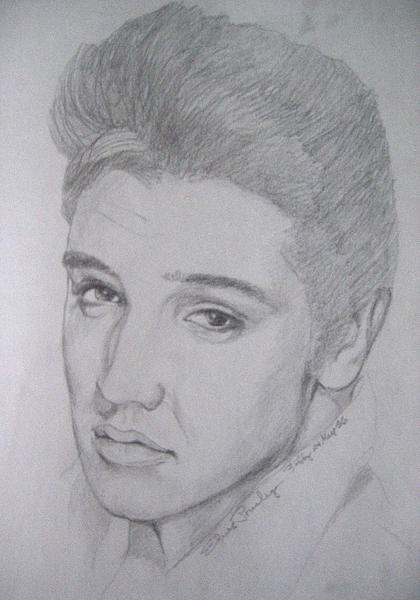 Figures Drawing - Elvis by Bobby Barredo