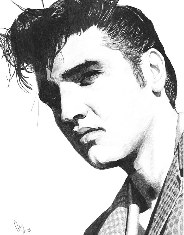 Elvis Drawing By Bobby Shaw