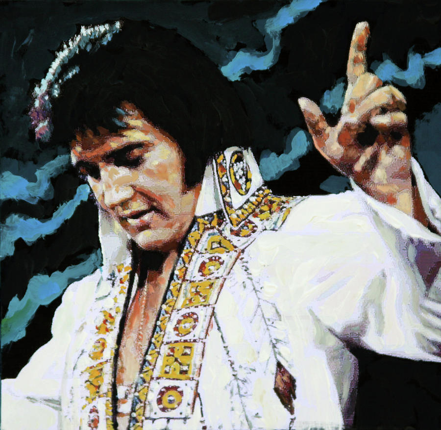 Elvis Presley Painting - Elvis - How Great Thou Art by John Lautermilch