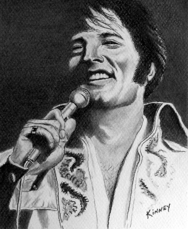 Celebrity Drawing - Elvis No. 8 by Jay Kinney