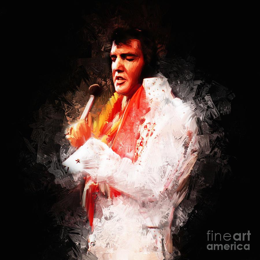 Elvis Painting - Elvis Presley 02 by Gull G