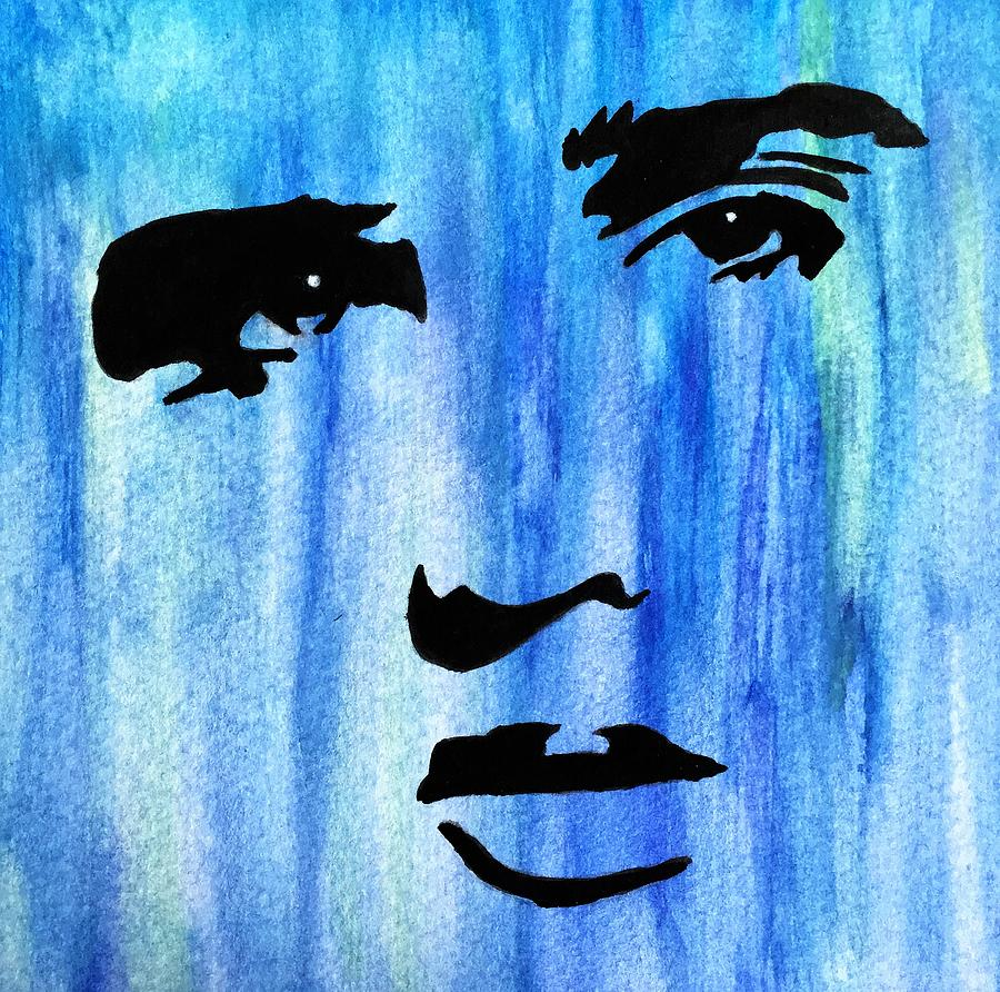 Watercolor Painting - Elvis Presley Blue  by Shawn Brandon
