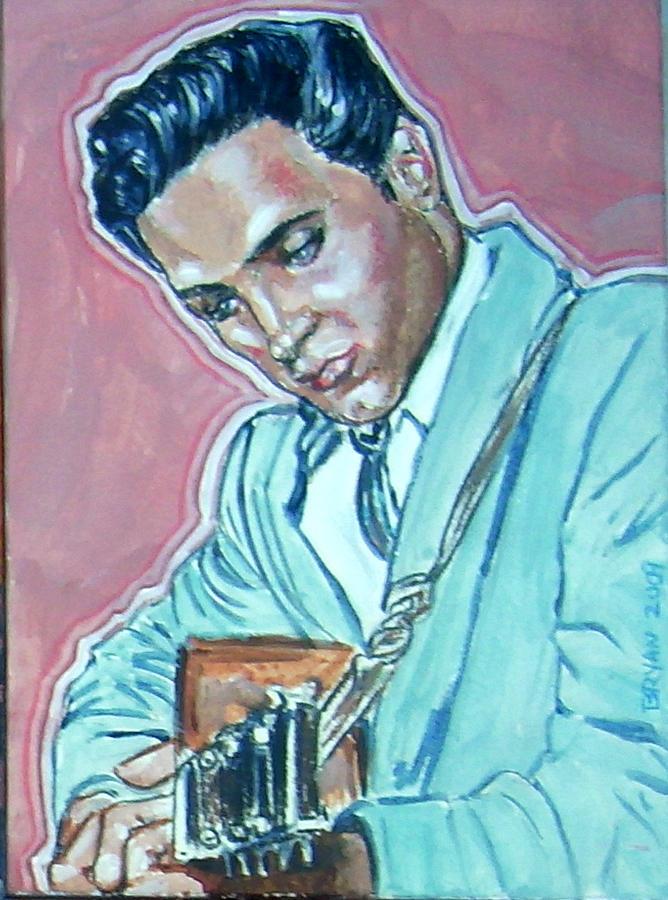 Elvis Presley Painting - Elvis Presley by Bryan Bustard