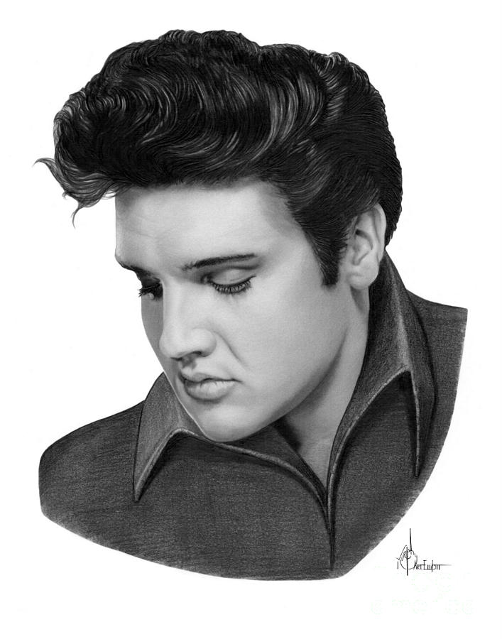 Elvis Presley drawing by Murphy Elliott