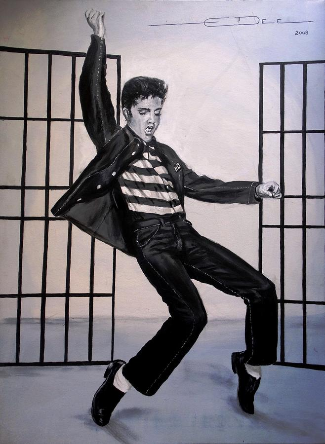Elvis Presley Painting - Elvis Presley Jailhouse Rock by Eric Dee