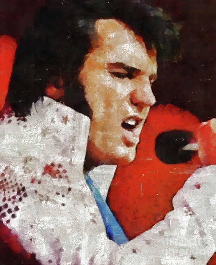 Elvis Presley, Legend  In Concert Painting