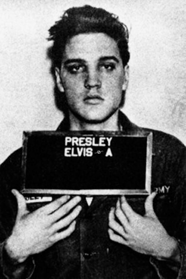 Elvis Presley Painting - Elvis Presley Mug Shot Vertical 1 by Tony Rubino