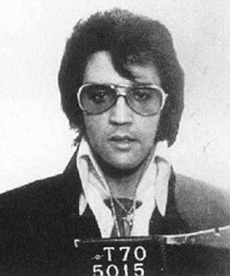 Elvis Presley Painting - Elvis Presley Mug Shot Vertical by Tony Rubino