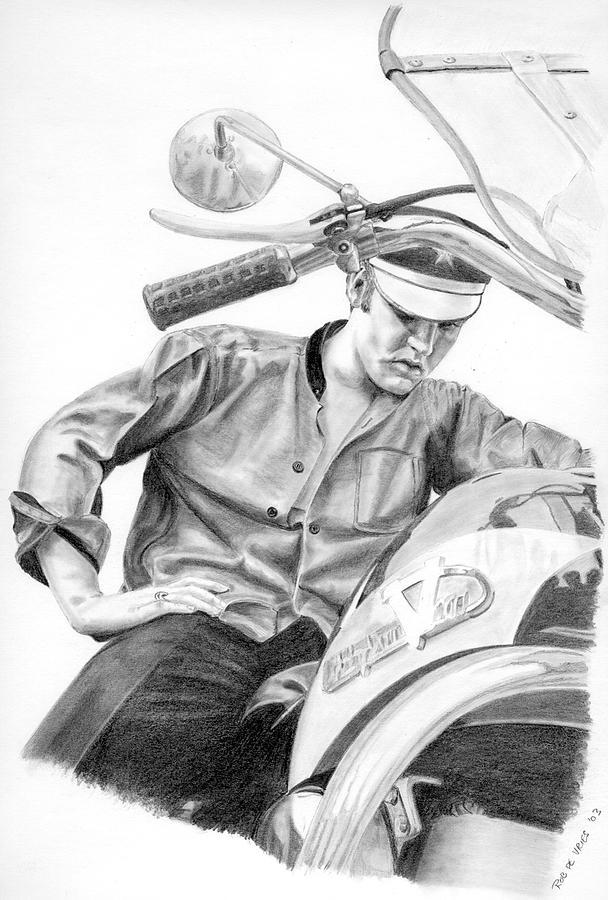 Singer Drawing - Elvis Presley by Rob De Vries