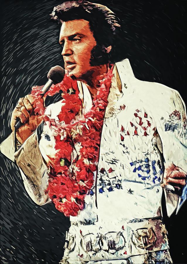 Elvis Presley Digital Art - Elvis Presley by Zapista Zapista