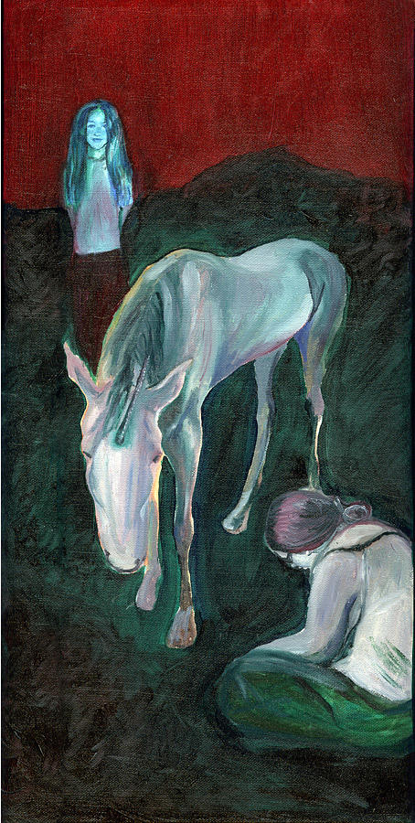 Unicorn Painting - Emaciated Unicorn by Aimee Johnson