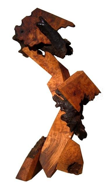 Wood Sculpture Sculpture - Emancipated by Daryl Stokes