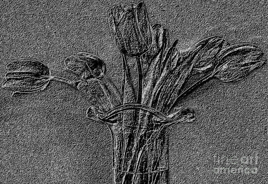 Photo Photograph - Embossed Tulip Abstract by Marsha Heiken