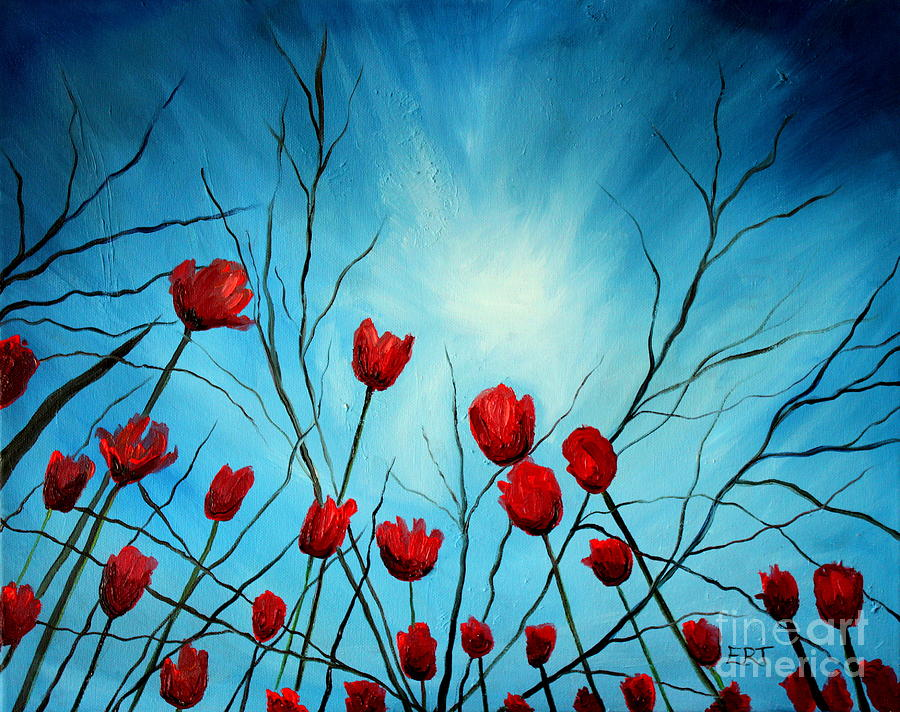 Tulips Painting - Embrace by Elizabeth Robinette Tyndall