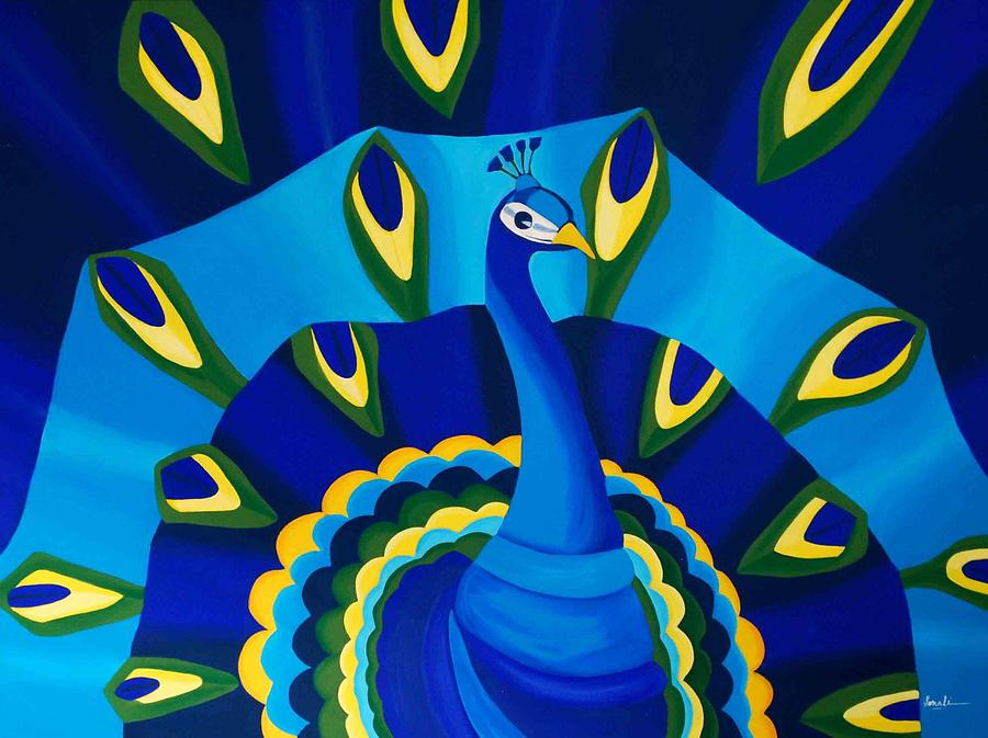 Turquoise Painting - Embrace Royalty by Sonali Kukreja