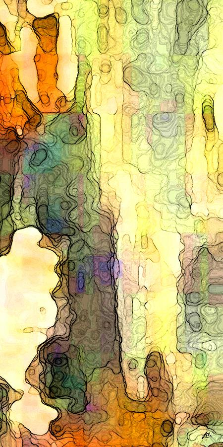Abstract Digital Art - Embracing Essence by Linda Mears