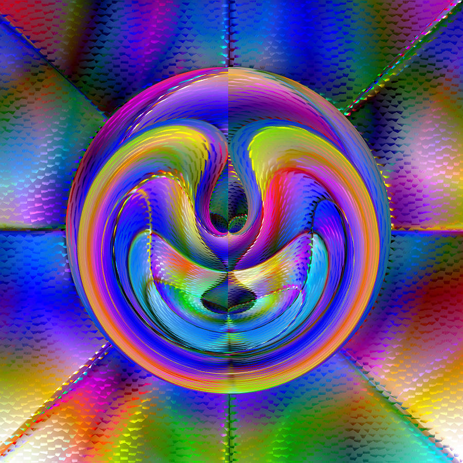 Abstract Digital Art - Embrio by Carl Perry
