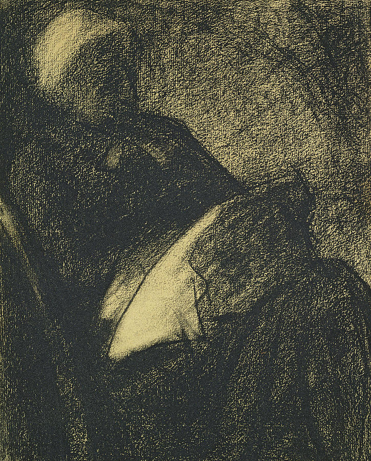 Embroiderer Drawing - Embroiderer by Georges Pierre Seurat