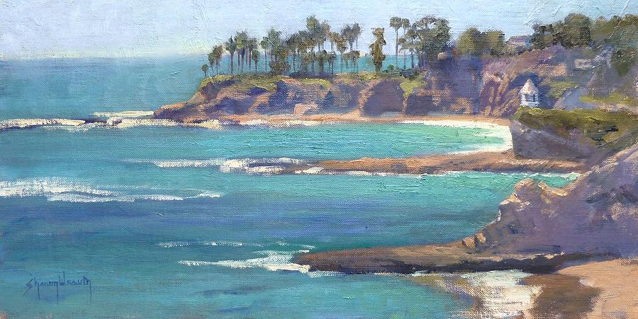 Laguna Beach Painting - Emerald Bay by Sharon Weaver