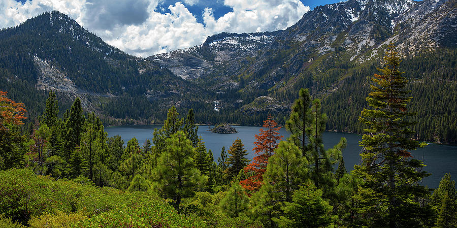 Emerald Bay Spring Day by Brad Scott by Brad Scott