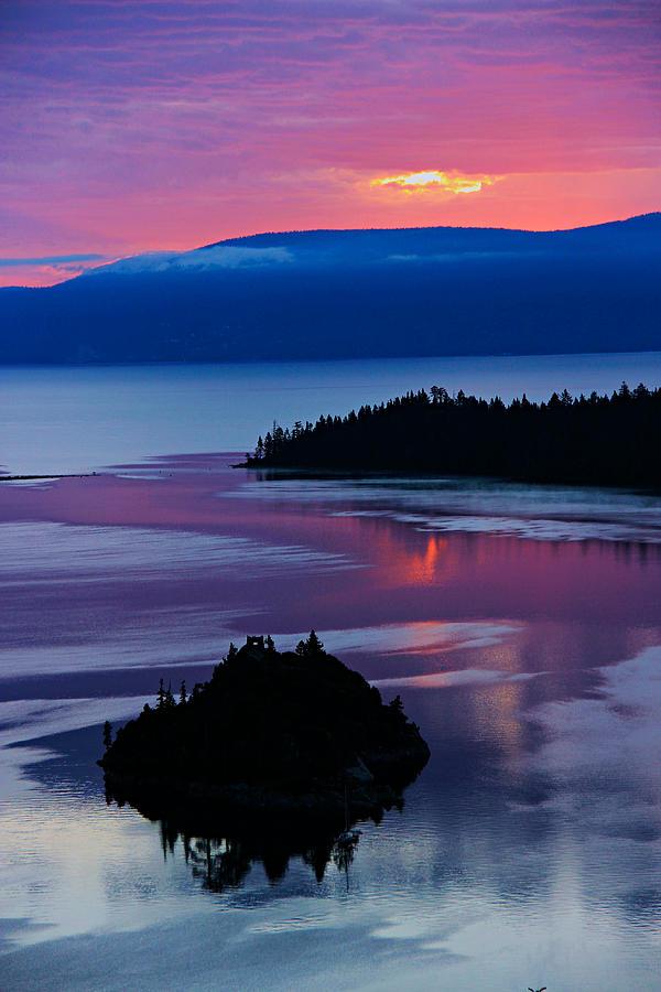 Lake Tahoe Photograph - Emerald Bay Sunrise Portrait by Sean Sarsfield