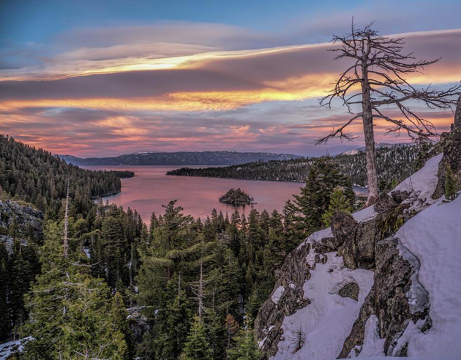 Emerald Bay sunset by Martin Gollery