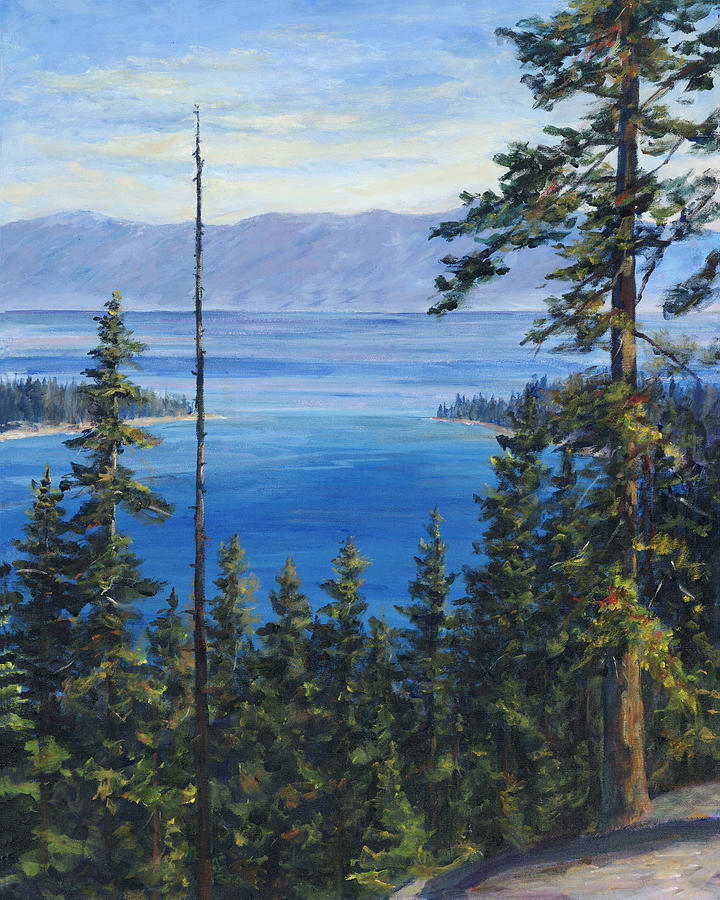 Lake Tahoe Painting - Emerald Bay by Vicki Asp