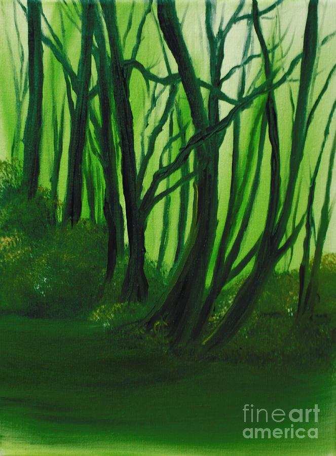 Landscape Painting - Emerald Forest. by Cynthia Adams