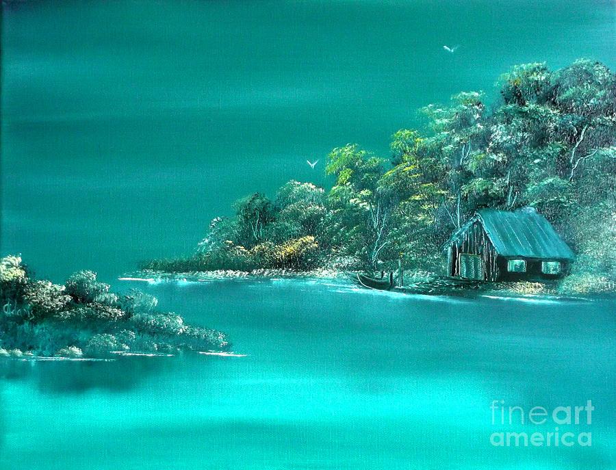 Emerald Painting - Emerald Isle 2 by Cynthia Adams