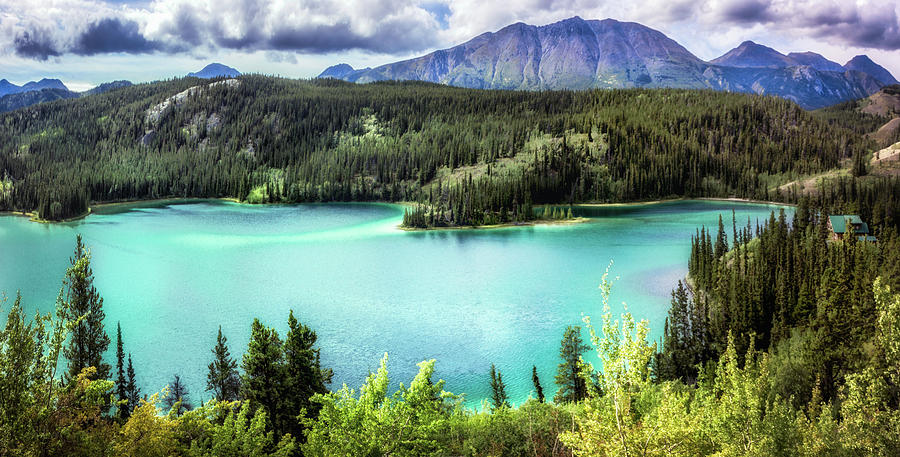 Emerald Lake in the Yukon by Claudia Abbott