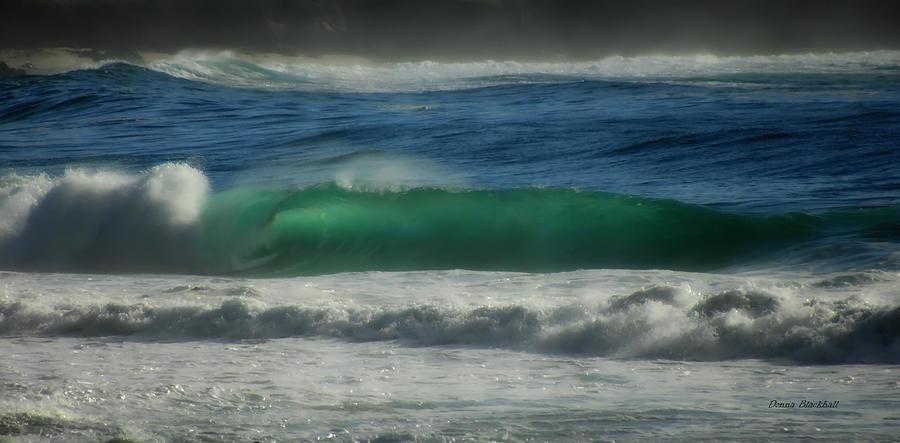 Sea Photograph - Emerald Sea by Donna Blackhall