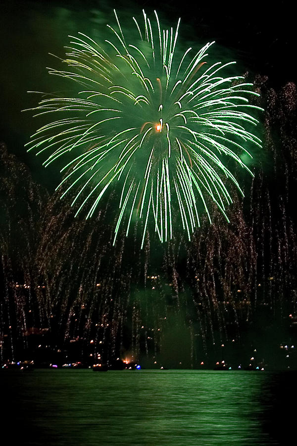 Fireworks Photograph - Emerald Sky by David Patterson