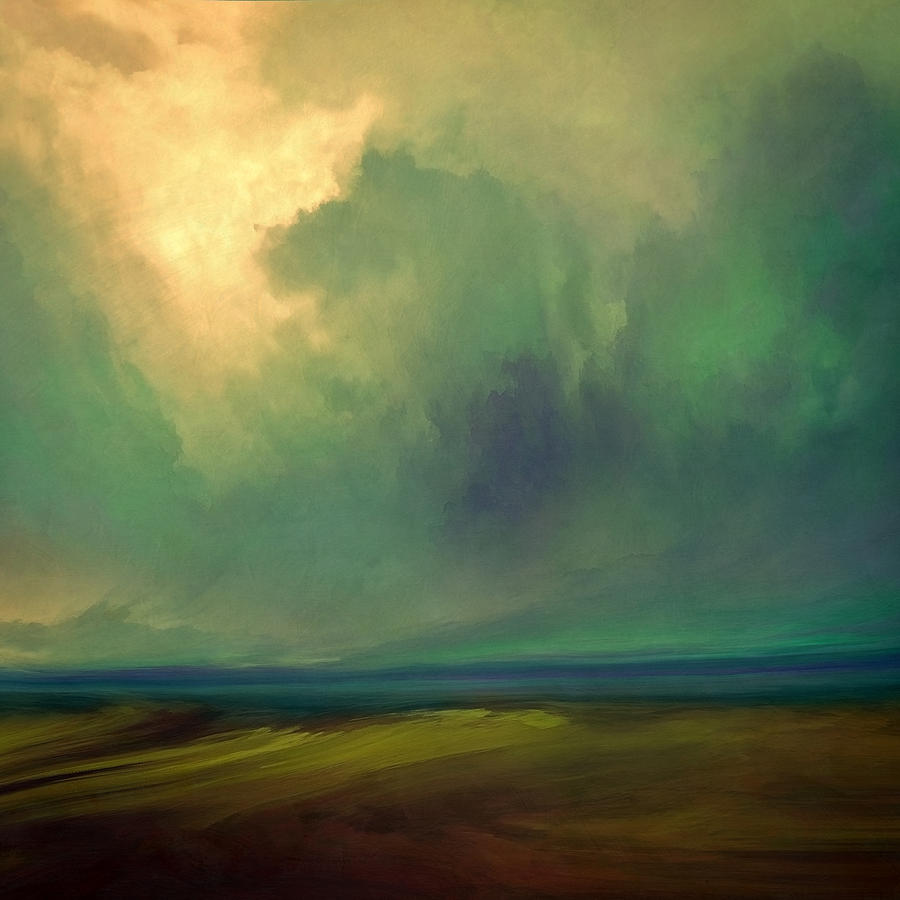 Atmosphere Mixed Media - Emerald Sky by Lonnie Christopher