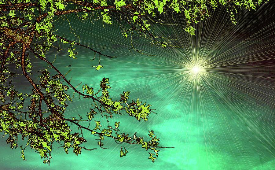 Sky Photograph - Emerald Sky by Tom York Images