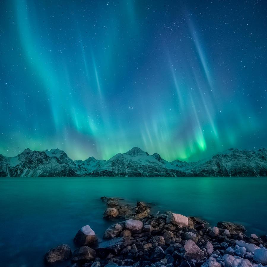 Emerald Photograph - Emerald Sky by Tor-Ivar Naess