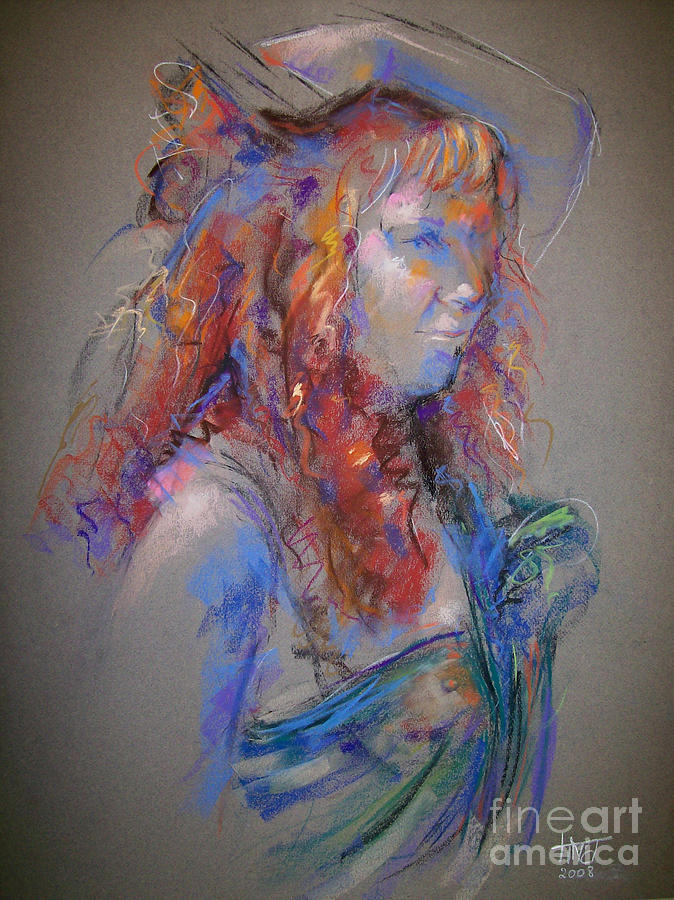 Figurative Painting - Emerald by Tina Siddiqui