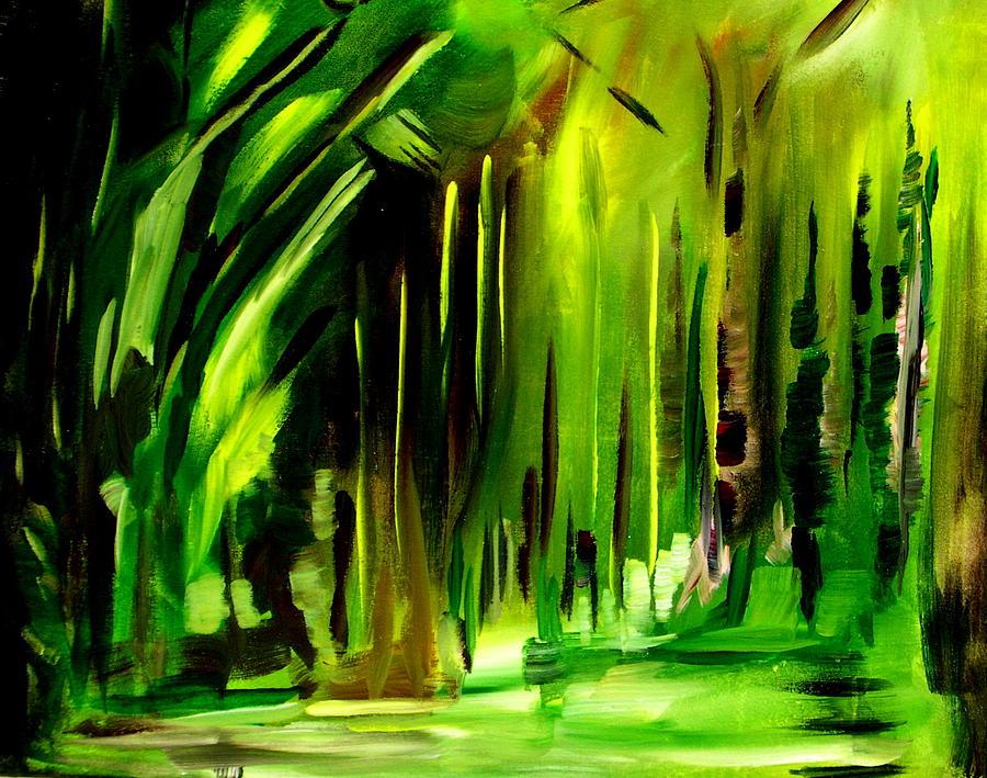 Landscape Painting - Emerald Vision by Ellen Seymour