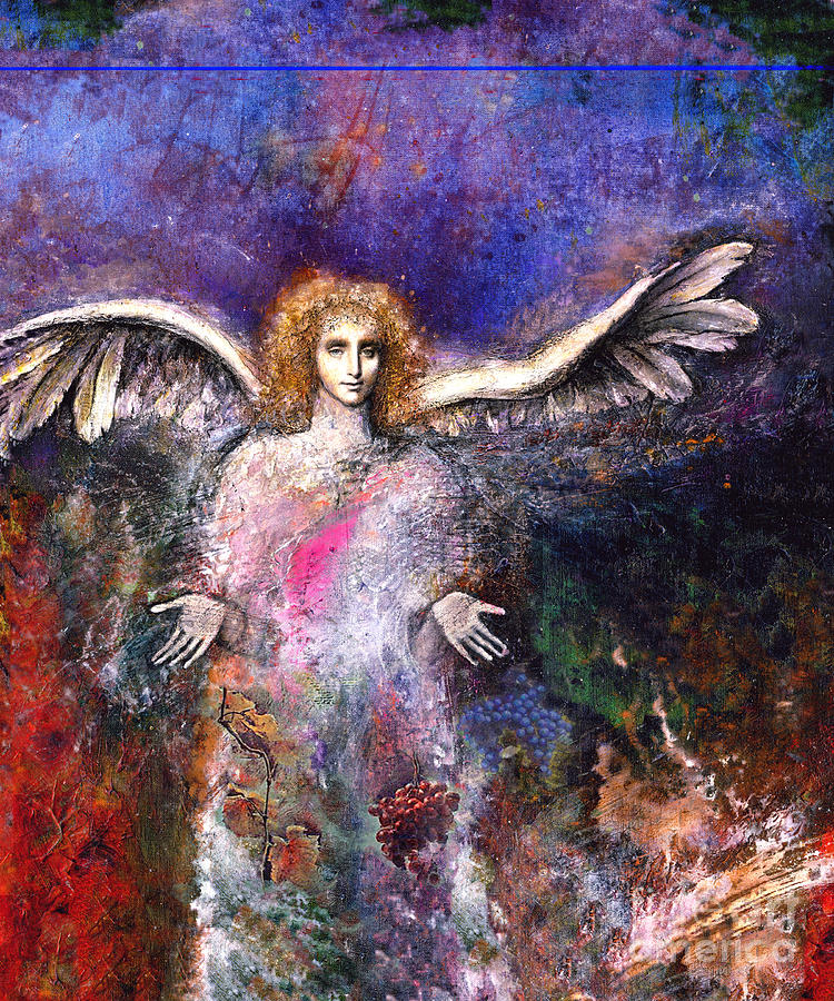Angel Painting - Emergence by Marne Adler