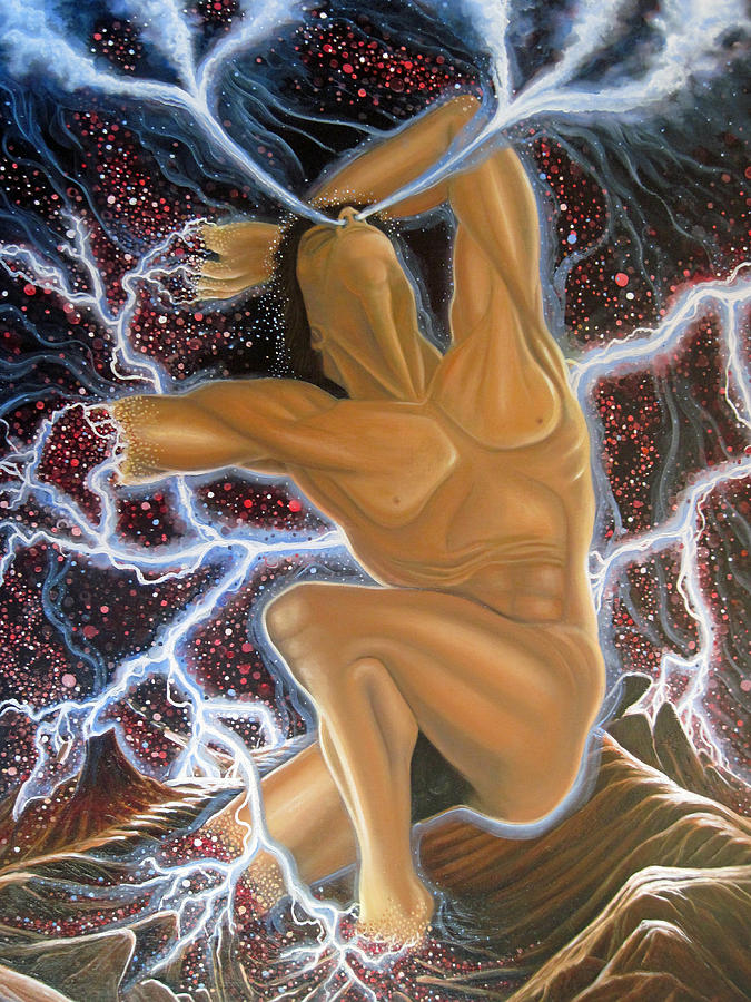 Creation Painting - Emergence by Rick Mittelstedt